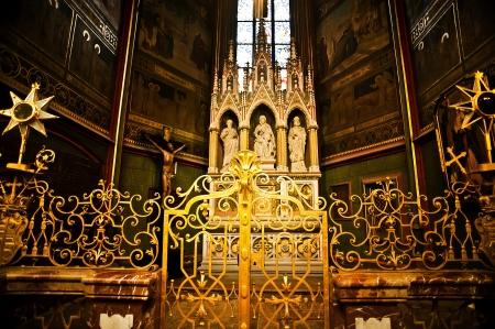 vitus: Interior of St  Vitus Cathedral in Prague, Czech Republic