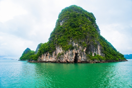 ha: Picturesque sea landscape  Ha Long Bay Vietnam Stock Photo