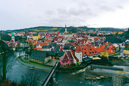 View of Cesky Krumlov, Czech Republic. photo