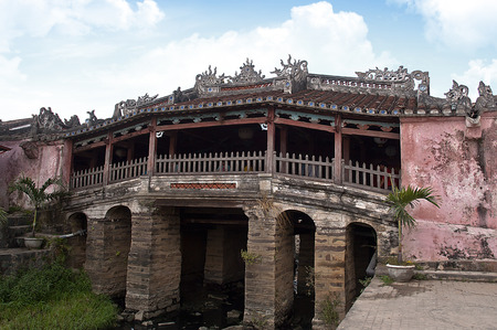 ponte giapponese: Ponte giapponese in Hoi An Vietnam Archivio Fotografico