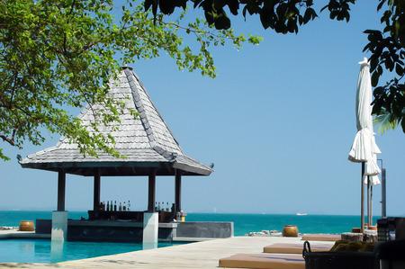 koh samet: Beach chair at sunny coast Koh Samet Thailand Land