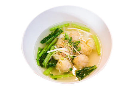 bowl of noodles with vegetables photo