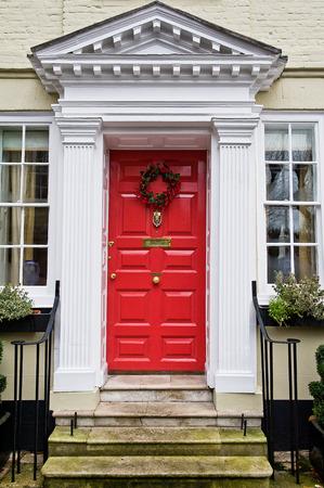 Extrem Bunten Traditionelle Englische Haustür In London Lizenzfreie Fotos AM99