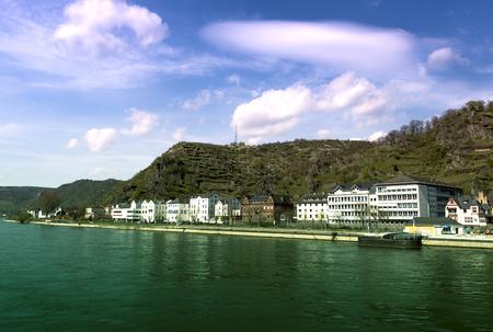 rheintal: Rhine River view at St. Goar Stock Photo