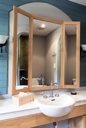 watercloset: Interior of a hotel bathroom