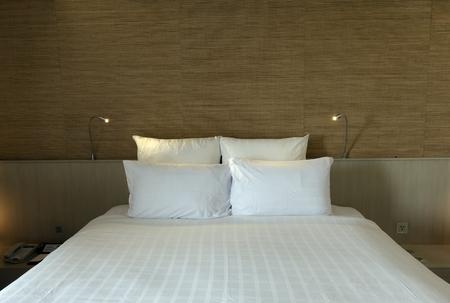ホテルの部屋のワイド アングル ビュー 写真素材