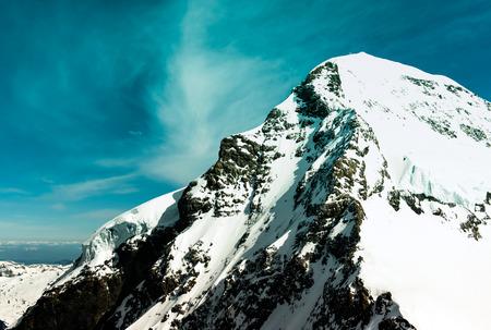 jungfraujoch: Swiss mountain, Jungfrau, Switzerland, ski resort Stock Photo