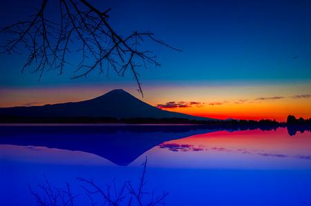 Lake Tanuki and mountain Fuji, Japan