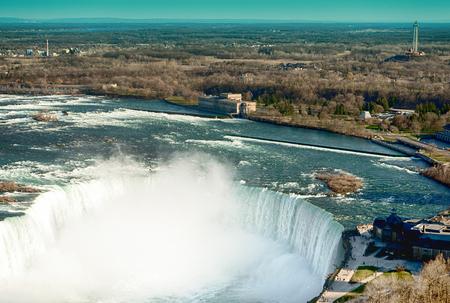 The view of the Niagara Falls Ontario, Canada