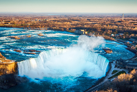 The view of the Niagara Falls Ontario, Canada