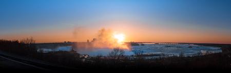 panorama of Niagara Falls on a beautiful morning Stock Photo