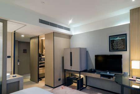 Bangkok, THAILAND - January 4 : LUXURY, DELUXE ROOM interior of The Okura Prestige Bangkok simply oozes luxury and comfort on 4 January, 2019 in Bangkok , Thailand.