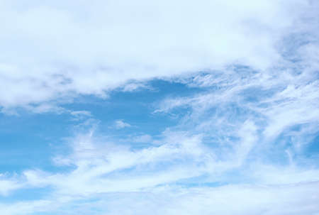 blue sky with white, soft clouds 免版税图像