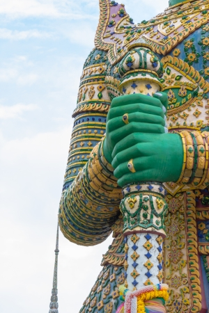 hands giant of the temple thailand photo