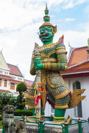 green giant statue  of the temple thailand photo