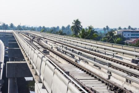 elevated: Elevated train in Bangkok,thailand
