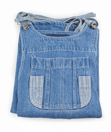 Denim skirt pocket isolated on white background photo