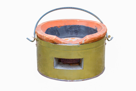 stoking: Charcoal stove for traditional cooking thai style