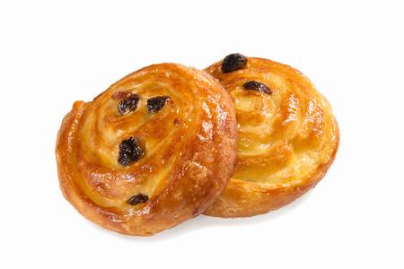 danish pastry isolated on white Stock Photo