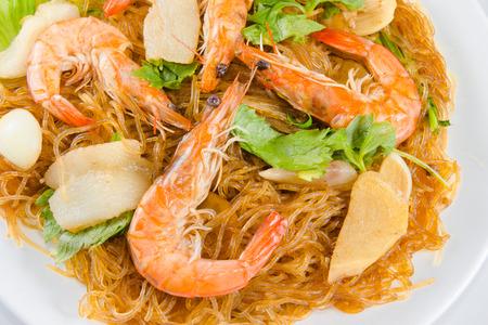 vermicelli: Vermicelli camar�n comida tailandesa Foto de archivo