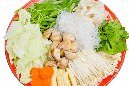 chinese spinach: Vegetable tray with cauliflower, celery, tomatoes, broccoli, carrot