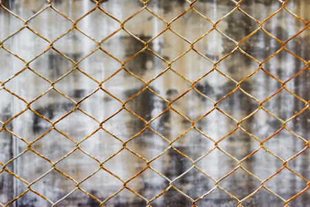 chainlink: Chainlink fence against wall background