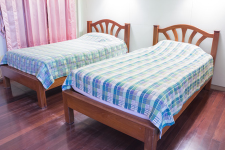 double beds: Bedroom interior with two double beds