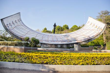 sundial: Large sundial in Thailand Stock Photo