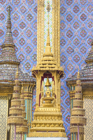 kaew: symbols of the king of Thailand in wat phra kaew (Temple of the Emerald Buddha) Stock Photo