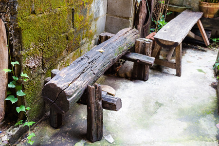 wood bench: old wood bench
