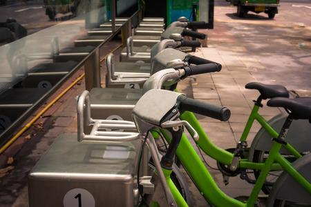bike parking: bike parking in Thailand,vintage or retro effect filter