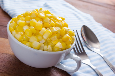 Sweet corn in a cup Stock Photo - 43915530