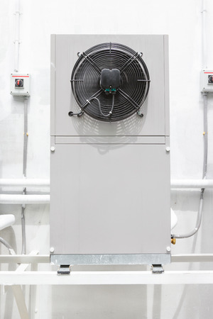 air: compressor unit of air conditioner Stock Photo