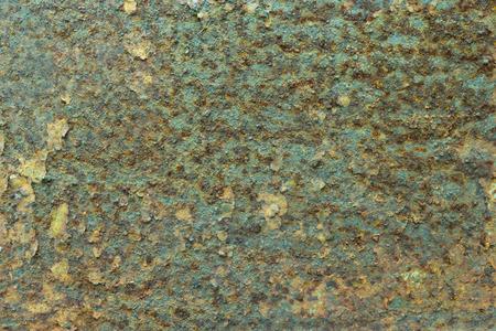 rusty background: descomposici�n superficial de �xido de metal, fondo verde oxidado