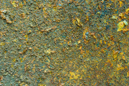 rusty background: decay metal rust surface, green rusty background