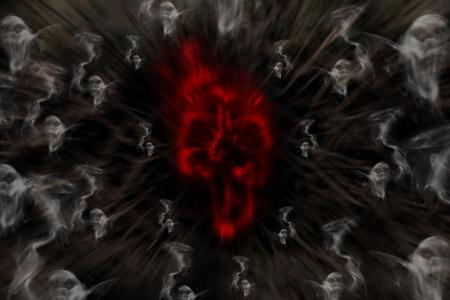 Smoke-shaped ghost,black background