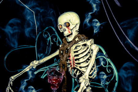 sternum: Ghost on halloween Stock Photo