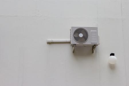 compresor: Compresor de aire en la pared