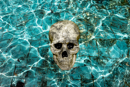 haunting: haunting pool with skull