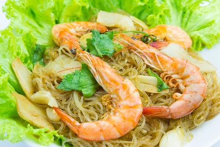 vermicelli: Shrimp vermicelli Thai food