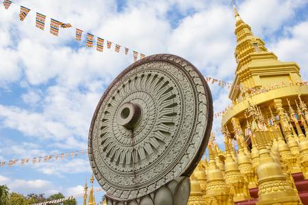 dhamma: Wheel of Dhamma at watpasawangboon temple, Saraburi province,Thailand