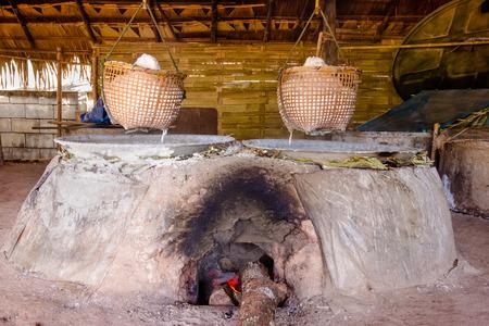 famous industries: Furnace for salt production,Nan Province, Thailand