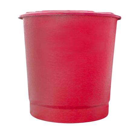 fibra de vidrio: red water fiberglass tank isolated on white background,clipping path