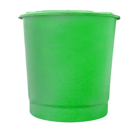 fiberglass: green water fiberglass tank isolated on white background,clipping path Stock Photo