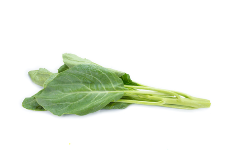 leaves of collards on background