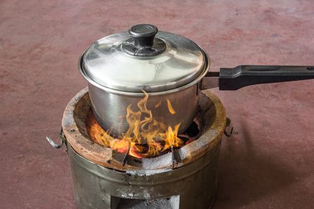 firebox: pot on stove with flame