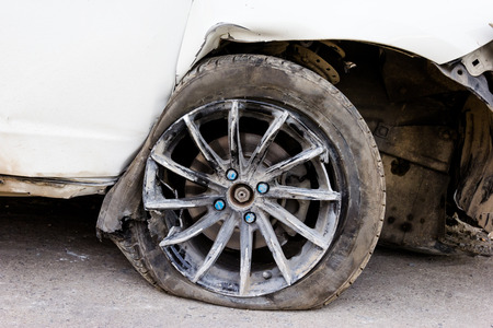 torn: tyre and wheel torn