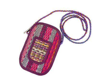 rattan mat: fashion handcraft straw bag on  background Stock Photo