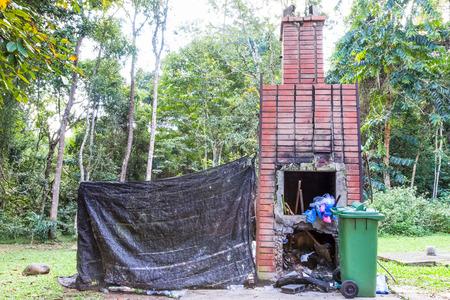 incinerator: Incinerator in forest