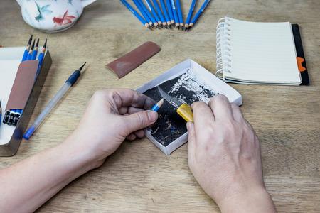 sacapuntas: sacapuntas de cuchillo cortador